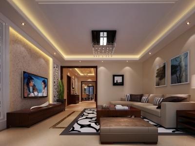 现代简约-222平米五居室装修样板间
