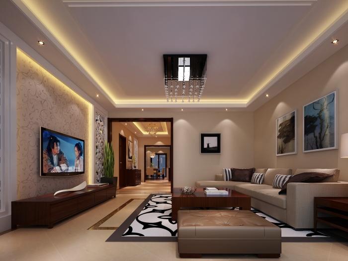 现代简约-222平米五居室-装修样板间