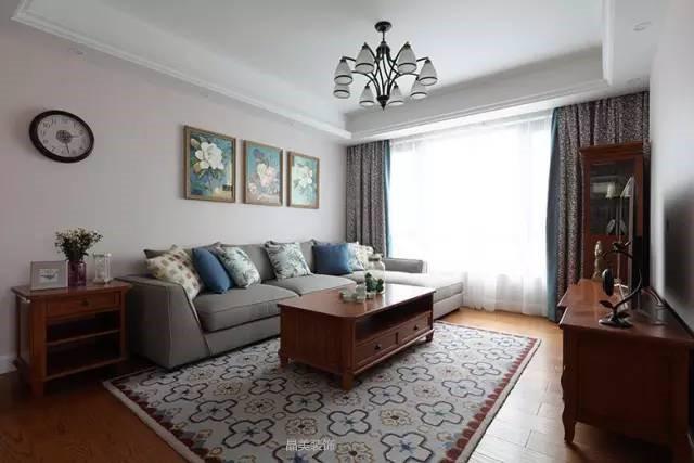 西式古典-137.25平米三居室-装修样板间