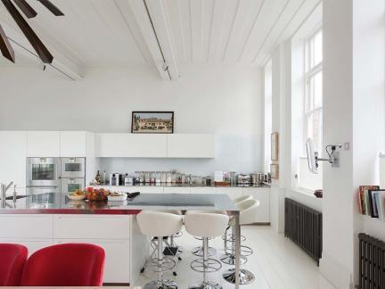 纯净创意现代风格开放式厨房装修设计