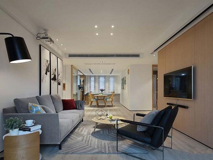 现代简约-117平米三居室-装修样板间