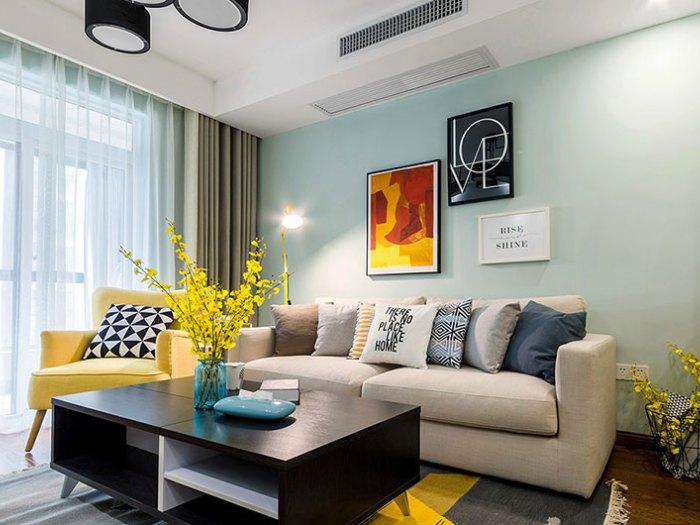 现代简约-93平米二居室-装修样板间