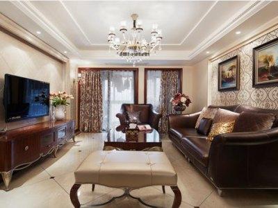 西式古典-136.27平米三居室装修样板间