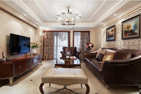 西式古典-136.27平米三居室-装修样板间