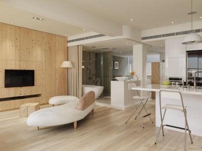 现代简约-57平米一居室装修样板间