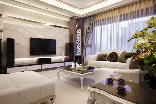 新古典风格-122平米三居室-装修样板间