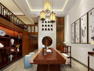 中式古典-240平米四居室装修样板间
