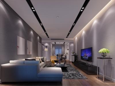 现代简约-125平米二居室装修样板间