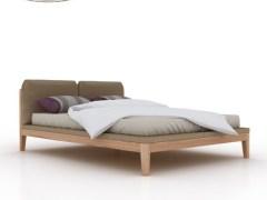 简约北欧风格软包双人床1.8米实木床白蜡木软靠婚床卧室家具木