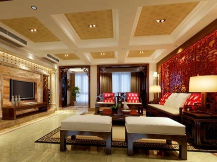 中式风格-220平米五居室装修样板间
