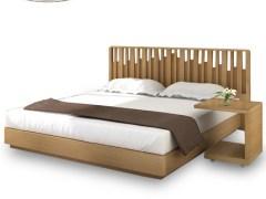 简约现代新中式家具 1.8米双人床1.5m高箱床 实木床婚床