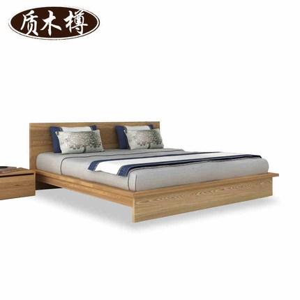 现代简约 实木床 1.8米双人床 卧室家具 1.5m婚床 韩