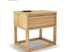 抽屉柜实木床头柜 简约北欧卧室家具两斗柜 白蜡木 原木色床边