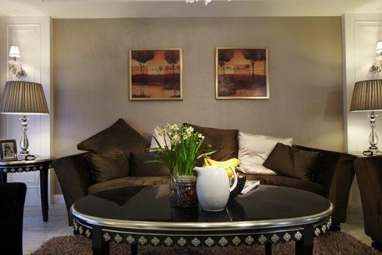 新古典风格-106平米三居室-装修样板间