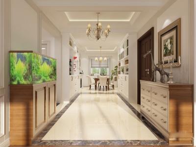 美式风格-128.62平米三居室装修样板间