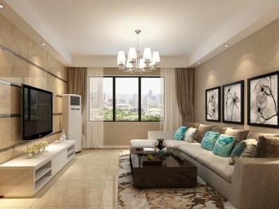 现代简约-0平米三居室装修样板间