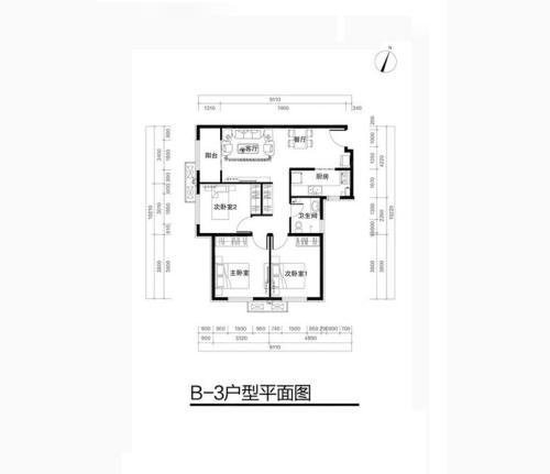 中国铁建兴盛嘉苑 100平米欧式装修效果图