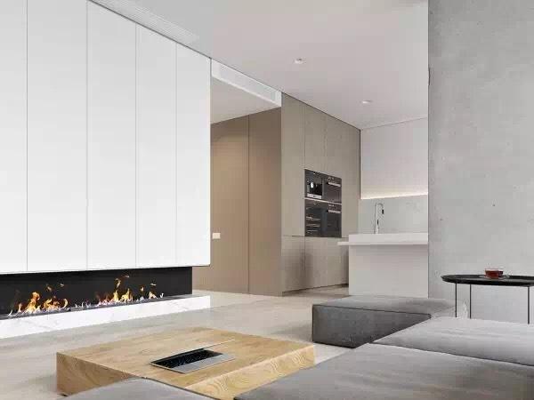 现代简约-113平米二居室-装修样板间