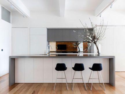 简约风格时尚小资厨房吧台设计图片