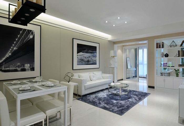 现代简约-92.61平米二居室-装修设计