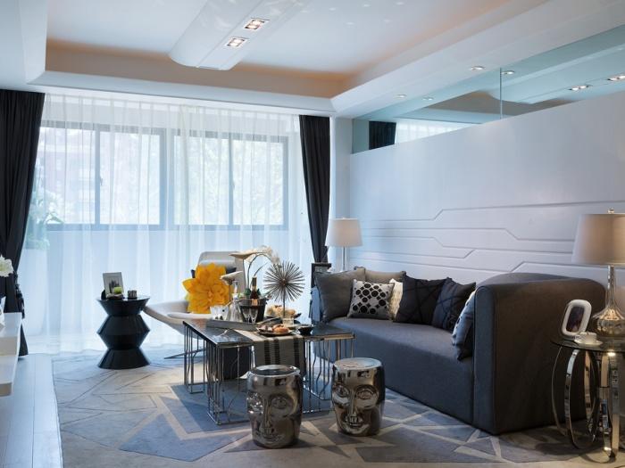 东南亚风格-117平米三居室-装修样板间