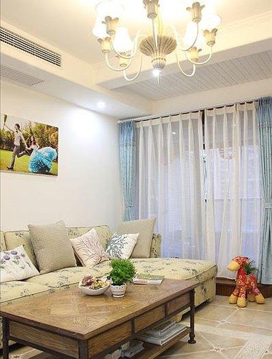 地中海风格-90平米二居室-装修样板间