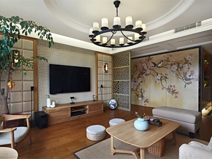 日韩风格-180平米三居室-装修样板间