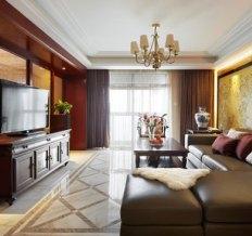山水家园-136平温馨时尚新中式之家