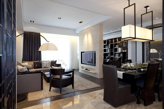 现代简约-140平米三居室-装修样板间