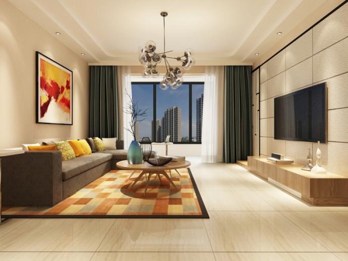 现代简约-146.08平米三居室-装修样板间