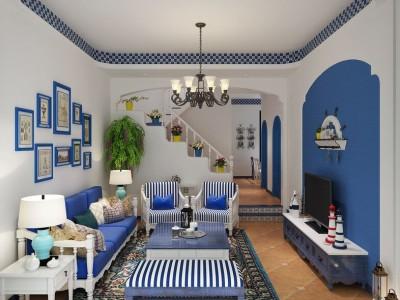 地中海风格-260平米四居室装修样板间
