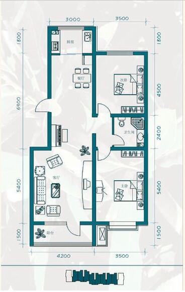 �X秀城-现代简约-二居室