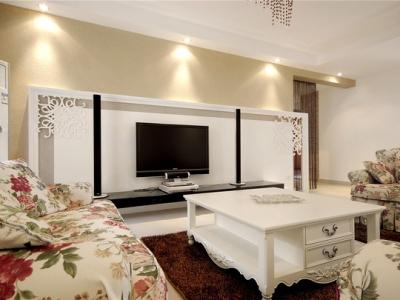 日韩风格-125平米三居室装修样板间