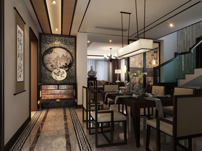 中式风格-187平米四居室-装修样板间
