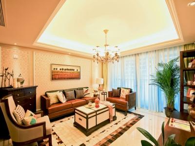 混搭风格-153.46平米三居室装修样板间