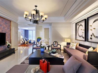 东南亚风格-150平米三居室装修样板间
