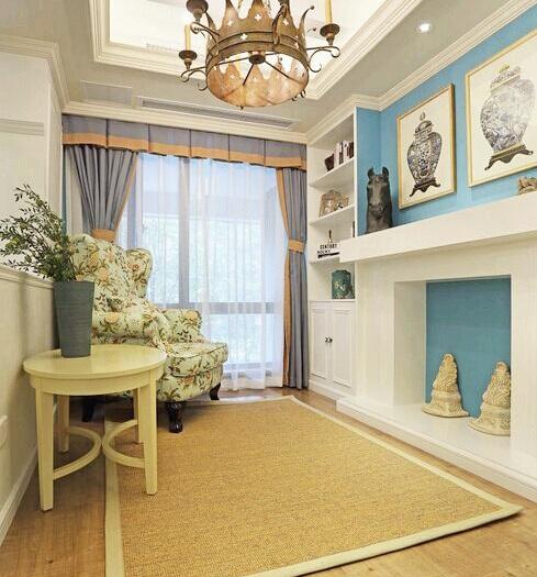 美式古法-125平米三居室-装修样板间