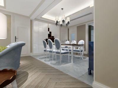 欧美风情-183平米三居室装修样板间