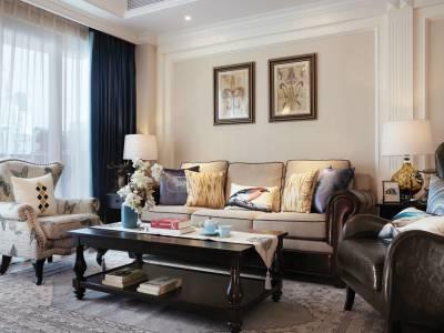 现代美式风格-138平米三居室装修样板间