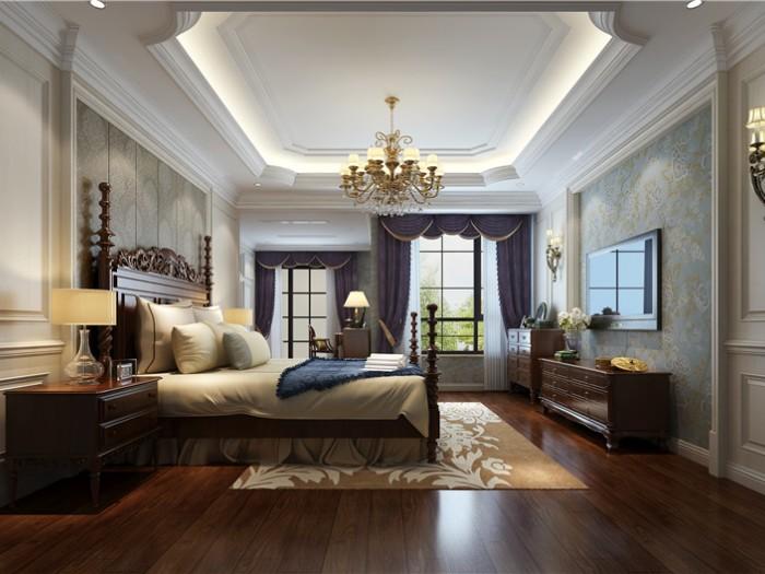 欧美风情-400平米四居室-装修样板间