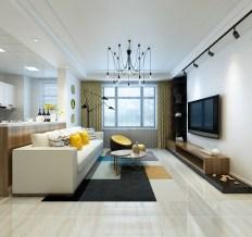 保利香槟国际-三居室-115平米-装修设计