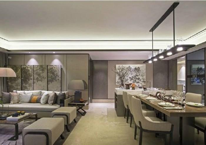 中式古典-200平米五居室-装修样板间