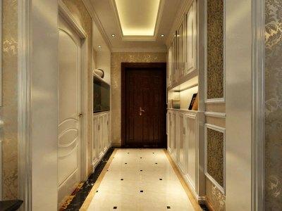 欧美风情-122平米三居室装修样板间