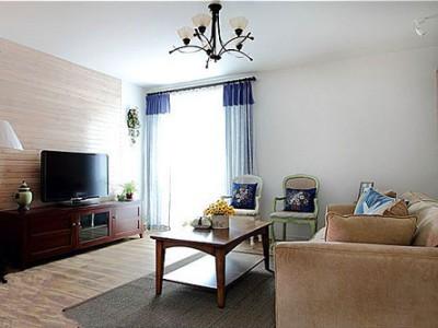 田园风格-125平米三居室装修样板间