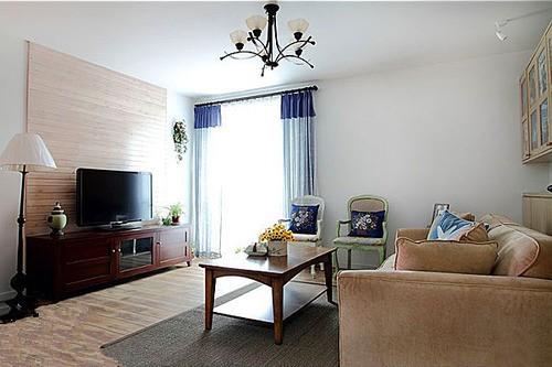 田园风格-125平米三居室-装修样板间