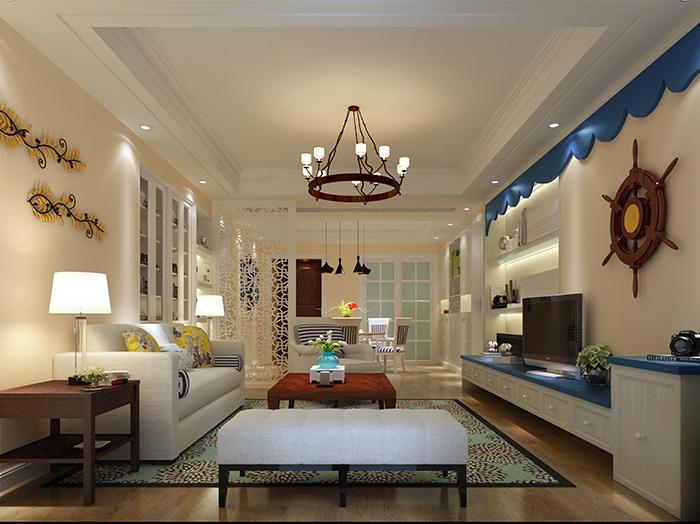 地中海风格-150平米四居室-装修样板间