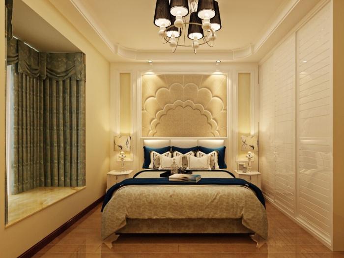 简欧风格-129.29平米三居室-装修样板间
