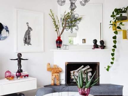 雅致北欧风格客厅艺术感吊灯效果图