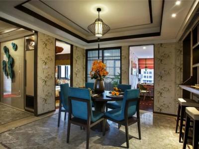 中式古典-219平米五居室装修样板间