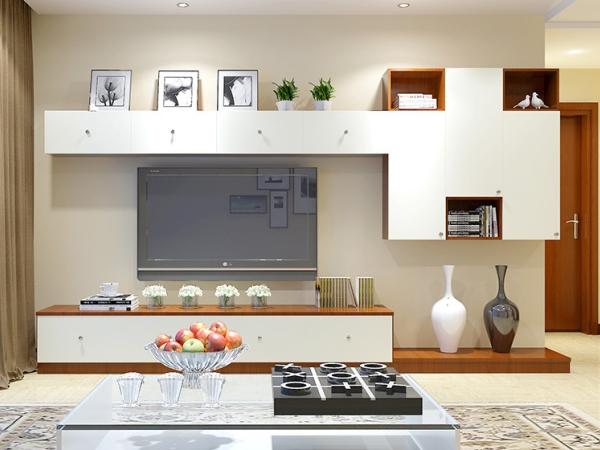 玛格定制家具 现代简约式客厅柜定做 电视柜厅柜书柜收纳柜订制